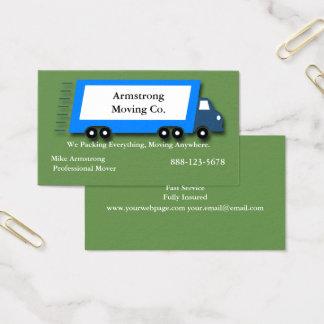 Cartes De Visite Moteur mobile de camion d'entreprise de