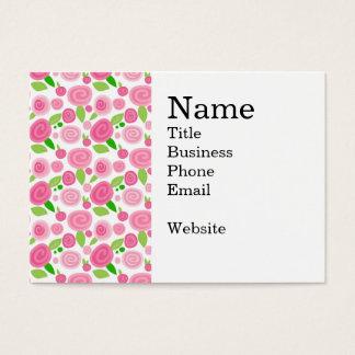 Cartes De Visite Motif assez rose-clair et de roses indien de rose