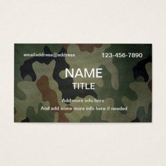 Cartes De Visite Motif de camouflage