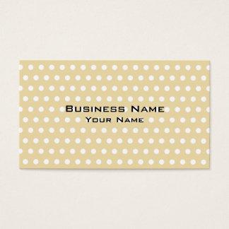 Cartes De Visite Motif de point beige et blanc de polka. Tacheté