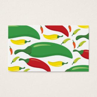 Cartes De Visite Motif de poivre de piment