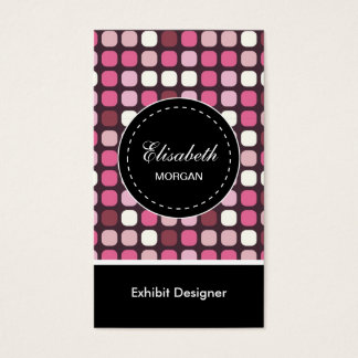 Cartes De Visite Motif de polka de rose de concepteur d'objet