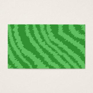 Cartes De Visite Motif des rayures vertes onduleuses