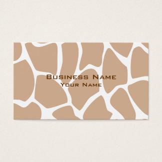 Cartes De Visite Motif d'impression de girafe dans le beige
