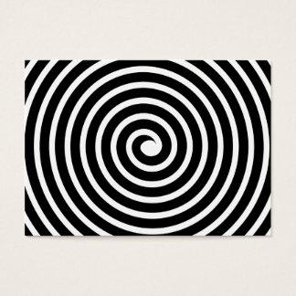 Cartes De Visite Motif en spirale - noir et blanc