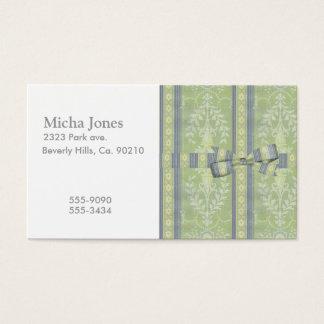 Cartes De Visite Motif floral vintage de papier peint de décor