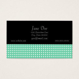 Cartes De Visite Motif géométrique blanc vert en bon état simple