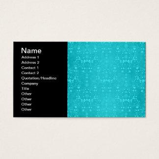 Cartes De Visite Motif turquoise de damassé d'Aqua de turquoise