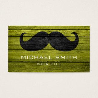 Cartes De Visite Moustache sur la texture en bois #8