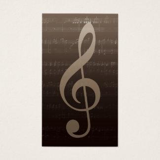 Cartes De Visite Musical vintage de musicien de professeur de