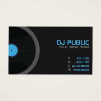 Cartes De Visite Musicien de jockey de disque de disc-jockey du DJ