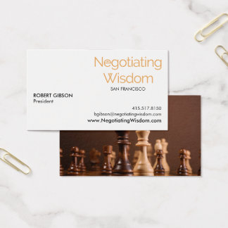 Cartes De Visite Negotiating Wisdom Business Card, Robert Gibson V1