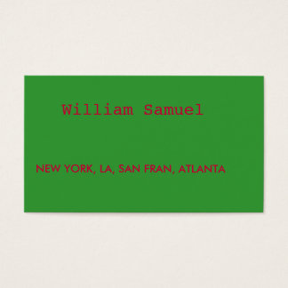 Cartes De Visite NEW YORK, LA, FRAN de San, ATLANTA, William Samuel