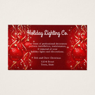 Cartes De Visite Noël, éclairage de vacances, décorations, coutume