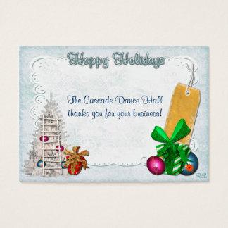 Cartes De Visite Noël GIFT/DISCOUNT d'élégance de vacances