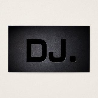 Cartes De Visite Noir de cool de caractères gras du DJ moderne