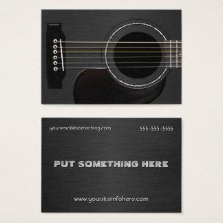Cartes De Visite Noir de guitare acoustique