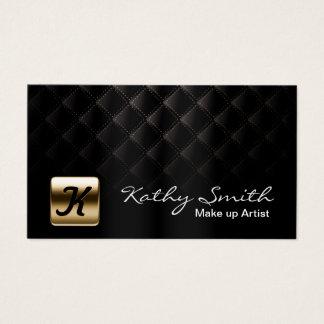 Cartes De Visite Noir de luxe et or de maquilleur élégants