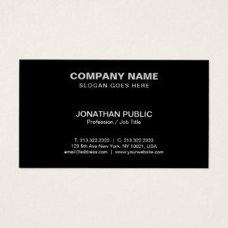 Cartes De Visite Noir d'entreprise moderne professionnel élégant
