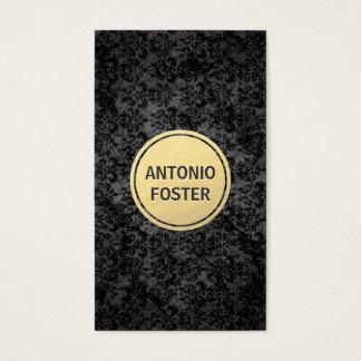 Cartes De Visite Noir et architecte de cercle d'or/dessinateurs