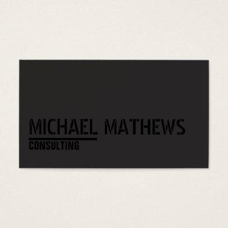 Cartes De Visite Noir fait sur commande minimaliste de modèle de