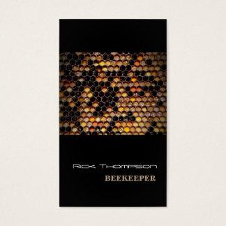 Cartes De Visite Noir moderne de vendeur/apiculteur de miel