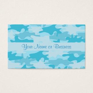 Cartes De Visite Nom de camouflage de Camo de bleu de turquoise