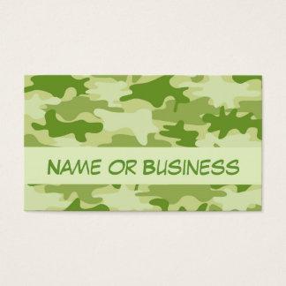 Cartes De Visite Nom foncé de camouflage de Camo de vert olive