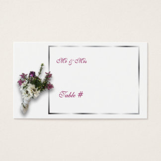 Cartes De Visite Nombre de Tableau de mariage de Heather et de