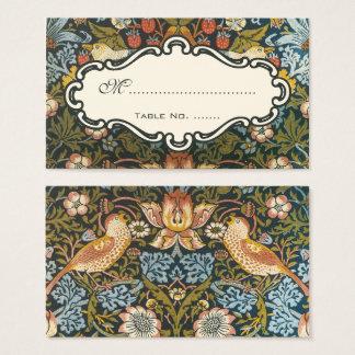 Cartes De Visite Nombre floral de Tableau d'oiseau de mariage