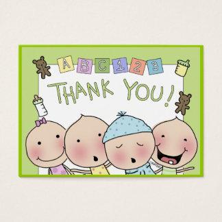Cartes De Visite Notes de Merci de la babysitter