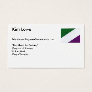 Cartes De Visite Nouveau drapeau de Savantian, Kim Lowe,
