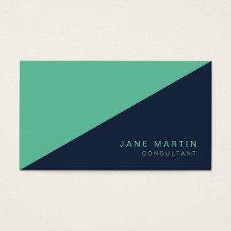 Cartes De Visite Nuance moderne diagonale de bleu et de turquoise