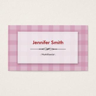 Cartes De Visite Nutritionniste de diététicien - carrés assez roses