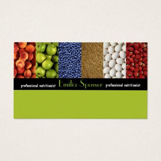 Cartes De Visite Nutritionniste de vert jaune/carte saine de la vie