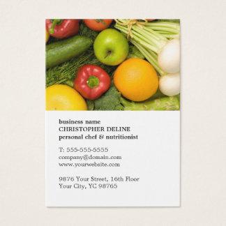 Cartes De Visite Nutritionniste personnel végétal unique moderne de