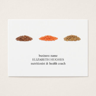 Cartes De Visite Nutritionniste propre élégant moderne de photo de