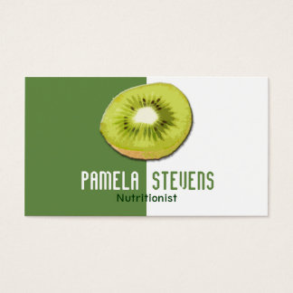 Cartes De Visite Nutritionniste vert de kiwi
