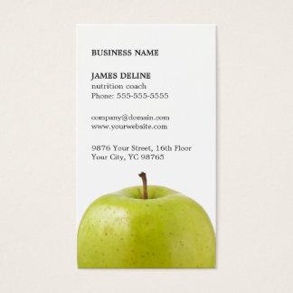 Cartes De Visite Nutritionniste vert élégant minimaliste d'Apple