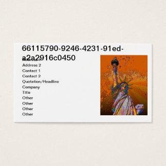 Cartes De Visite NYC psychédélique : Statue de la liberté 001