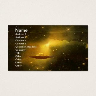Cartes De Visite Objet de vol d'UFO dans l'espace