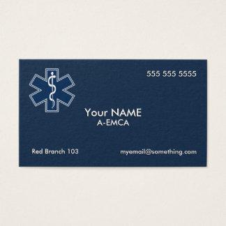 Cartes De Visite Obscurité de l'infirmier EMT SME