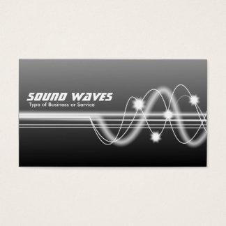 Cartes De Visite Ondes sonores - gris ombragé