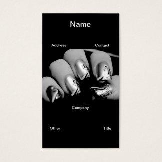 Cartes De Visite Ongles de concepteur