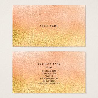 Cartes De Visite Or en verre VIP Ombre Glitter1 de rose en pastel