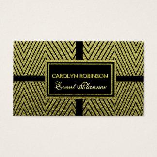 Cartes De Visite Or et noir de Chevron