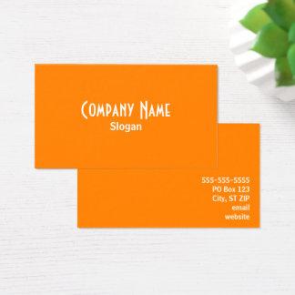 Cartes De Visite Orange