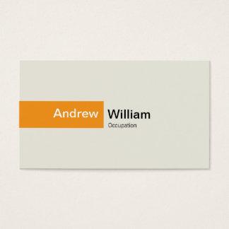 Cartes De Visite Orange élégante