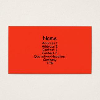 Cartes De Visite orange lumineuse