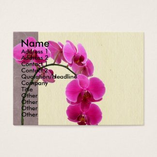 Cartes De Visite Orchidée pourpre